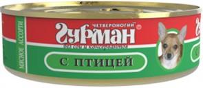 Четвероногий Гурман  консервы д/собак Мясное ассорти с Птицей 100г