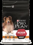 PRO PLAN® OPTIHEALTH® для взрослых собак средних пород  С КУРИЦЕЙ