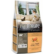 PRONATURE Пронатюр Holistic Adult беззерновой сухой корм для кошек (с уткой и апельсином)