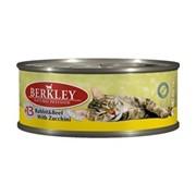 BERKLEY Беркли Консервы для кошек с кроликом, говядиной и цуккини