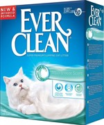 EVER CLEAN Эвер Клин Aqua Breeze Наполнитель комкующийся с ароматизатором Морской бриз 6кг