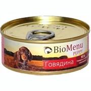 Био Меню  консервы д/щенков Говядина 100г