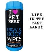 PET HEAD Салфетки гипоаллергенные Цитрусовый бум для лап и тела, 50 шт