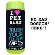 PET HEAD Салфетки для собак Голливудская улыбка для чистки зубов и от неприятного дыхания  без сульфатов и парабенов, 50 шт