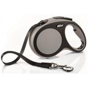 FLEXI рулетка-ремень для собак до 60кг, 5м,   (New Comfort L Tape 5 m, blue)