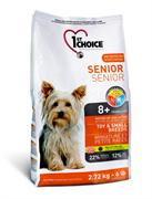 1st Choice для пожилых собак от 8 лет Миниатюрные и мелкие породы На основе мяса курицы (2,72 кг)