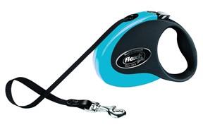 Поводок-рулетка 5м, до 25 кг, ленточный Collection M синяя