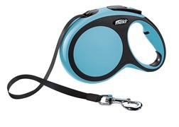 Поводок-рулетка для собак Flexi New Comfort L ленточный до 50кг 8м Голубая