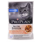 Pro Plan д/к конс.в/у  Nutri Savour HOUSE CAT соус лосось 85г