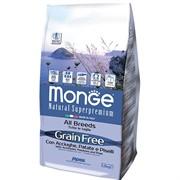 Monge Dog GRAIN FREE беззерновой корм для собак всех пород анчоусы c картофелем и горохом