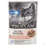 Pro Plan д/к конс.в/у  Nutri Savour HOUSE CAT соус лосось (0,085 кг)