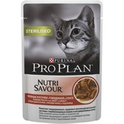 Pro Plan д/к конс.в/у  Nutri Savour STERILISED соус говядина (0,085 кг)