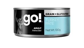 Консервы беззерновые с индейкой для кошек GO! Grain Free Turkey Pate