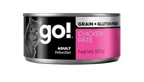 Консервы беззерновые с курицей для кошек GO! Grain Free Chicken Pate