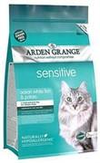 Arden Grange Корм сухой беззерновой, для взрослых кошек с деликатным желудком и/или чувствительной кожей AG Adult Cat Sensitive (GF)