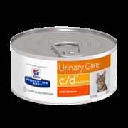 Hills PD Feline C/D - Хилл`c лечебные консервы для кошек CD (паштет)