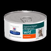 Hills PD Feline W/D - Лечебные консервы для кошек W/D лечение сахарного диабета