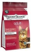 Arden GrangeКорм сухой беззерновой, для взрослых кошек, с курицей и картофелем   AG Adult Cat  (GF) Chicken & Potato (4 кг)