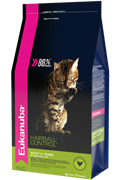 Eukanuba Cat HAIRBALL корм для вывода шерсти из желудка с домашней птицей для кошек