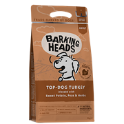 """BARKING HEADSБеззерновой для Собак с Индейкой и бататом """"Бесподобная индейка""""  (12 кг)"""