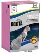 BOZITA Кусочки в желе для кожи и шерсти кошек с лососем, Sensitive Hair&Skin