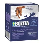 BOZITA Naturals кон.д/собак кусочки в желе с индейкой