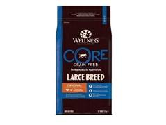 WELLNESS CORE Large Breed Adult беззерновой cухой корм для собак крупных пород, индейка  10 кг