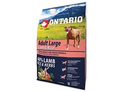 Корм Ontario для собак крупных пород с ягненком, индейкой и рисом, Ontario Adult Large Lamb, Turkey & Rice