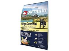 Корм Ontario для собак малых пород Контроль веса с индейкой и картофелем, Ontario Mini Weight Control Turkey & Potatoes