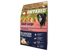 Корм Ontario для собак крупных пород с курицей и картофелем, Ontario Large Chicken & Potatoes (12 кг)