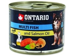 Ontario консервы для собак, рыбное ассорти, ONTARIO Mini - Multi Fish and Salmon oil