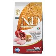 FARMINA N&D LG Сухой низкозерновой корм для взрослых кошек с курицей, гранатом, спельтой и овсом Adult Cat Chicken&Pomegranate
