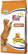 FARMINA FUN CAT Сухой корм для взрослых кошек мясной Meat