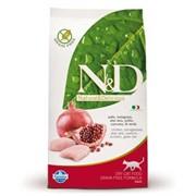 FARMINA N&D GF Сухой беззерновой корм для взрослых кошек с курицей и гранатом Adult Cat Chicken&;Pomegranate (10 кг)