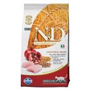 FARMINA N&D LG Сухой низкозерновой корм для взрослых кошек с курицей, гранатом, спельтой и овсом Adult Cat Chicken&Pomegranate (10 кг)