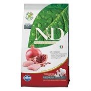 N&D PRIME DOG CHICKEN AND POMEGRANATE ADULT MEDIUM & MAXI 12KG