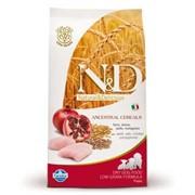 FARMINA N&D LG Сухой низкозерновой корм для щенков с курицей, гранатом, спельтой и овсом Puppy Chicken&Pomegranate (12 кг)