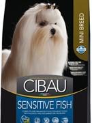 FARMINA Cibau Sensitive Fish Mini Для взрослых собак малых пород с рыбой