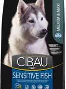 FARMINA Cibau Sensitive Fish Medium & Maxi Для взрослых собак средних и крупных пород рыба