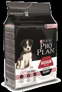 PRO PLAN® OPTIDERMA® для щенков средних пород с чувствительной кожей лосось/рис  (3 кг)