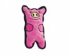 OH игрушка для собак Invinc Mini Свинка без наполнителя с пищалками 12 см