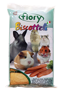 FIORY бисквиты для грызунов Biscottelli с морковью 35 г