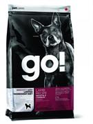 GO! NATURAL HOLISTIC Беззерновой для щенков и собак с ягненком для чувст. пищеварения (Sensitivity + Shine LID Lamb Dog Recipe, Grain Free, Potato Free) 24-12 (11,35 кг)
