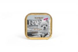 ТитБит Консервы для собак RAF Индейка 100 г