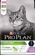PRO PLAN® Sterilised для стерилизованных кошек С ИНДЕЙКОЙ 0,400 кг