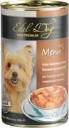HAPPY DOG Эдель Дог  нежные кусочки в соусе индейка печень