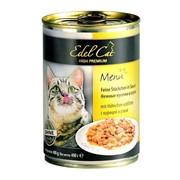 EDEL CAT Эдель Кэт нежные кусочки в соусе  /курица утка/   0,4 кг
