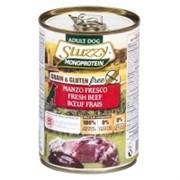 Stuzzy Monoprotein Консервированный корм для взрослых собак (со свежей говядиной)