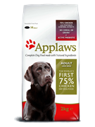 APPLAWS Беззерновой для Собак крупных пород Курица/Овощи: 75/25% (Dry Dog Chicken Large Breed Adult) (7,5 кг)