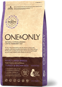 ONE&ONLY Turkey & Rice Adult LARGE BreedsИндейка  с рисом для взрослых собак крупных пород 12 кг